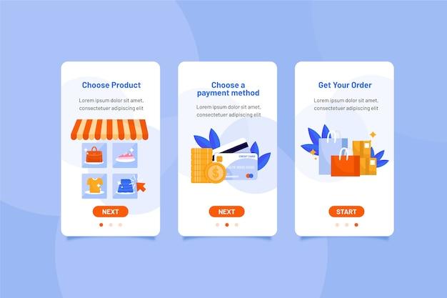Купить онлайн коллекцию экранов приложения