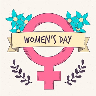 女性の日のシンボルで描く