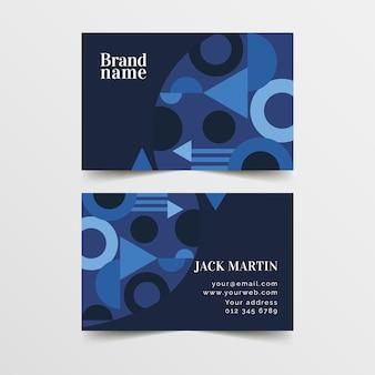 Абстрактная концепция шаблон визитной карточки