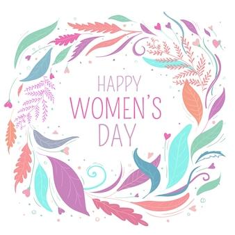 女性の日の花のテーマデザイン