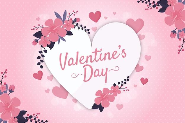 フラットバレンタインデーの壁紙