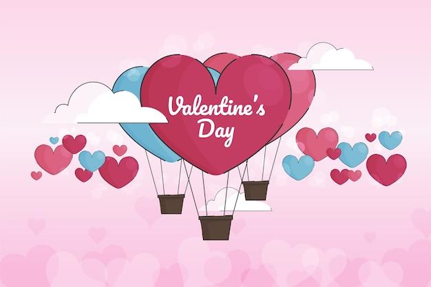 バレンタインの日のお祝いの背景