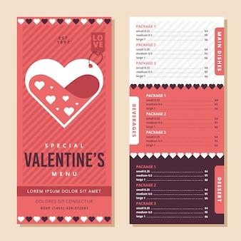 Плоский дизайн шаблонов в день святого валентина