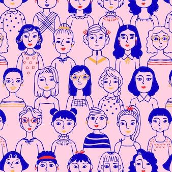 女性の顔を持つ女性の日のパターン