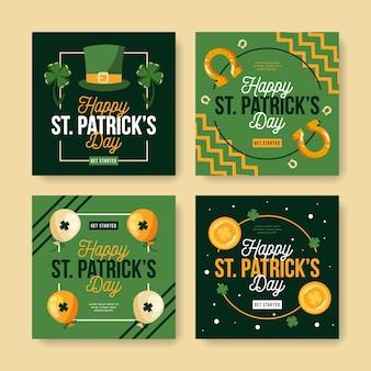 Коллекция почтовых инстаграм в день святого патрика