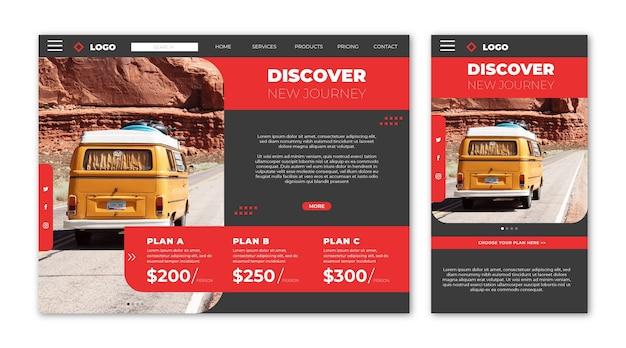 Целевая страница сайта о путешествиях