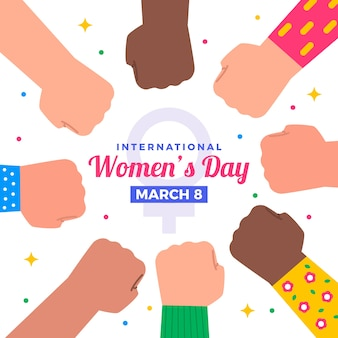 フラットなデザインの女性の日のイベントのコンセプト