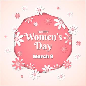 Женский день концепция в бумажном стиле