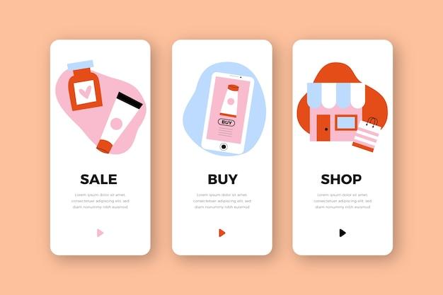 Набор экранов приложения для покупки сервиса