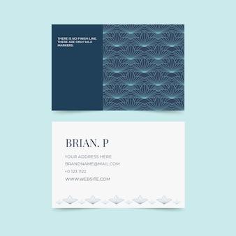 抽象的な古典的な青い名刺テンプレート