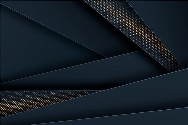 Темные бумажные слои фона с золотыми деталями
