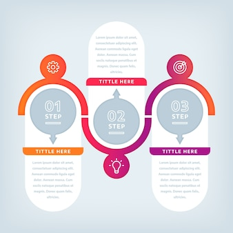 Плоский дизайн инфографики шаги