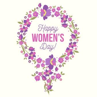 花をテーマにした国際女性デー