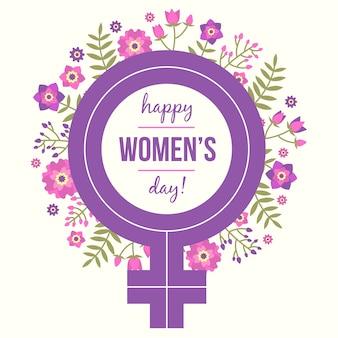 花の女性の日のテーマコンセプト