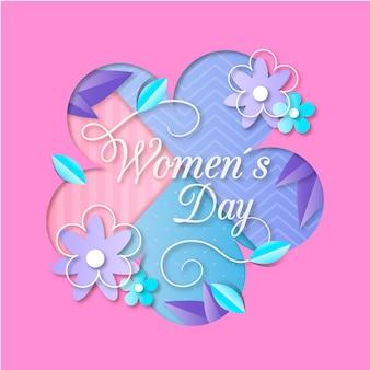 紙のスタイルをテーマにした女性の日