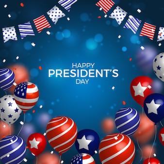 現実的な風船で大統領の日
