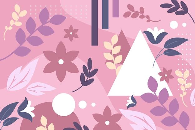 フラットなデザインの抽象的な花の背景スタイル