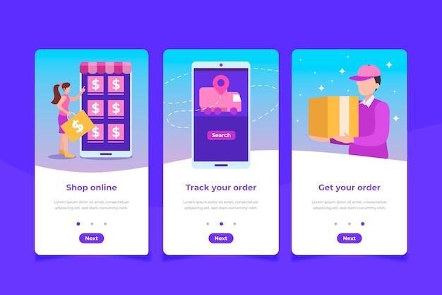 オンボーディングアプリの画面を購入する