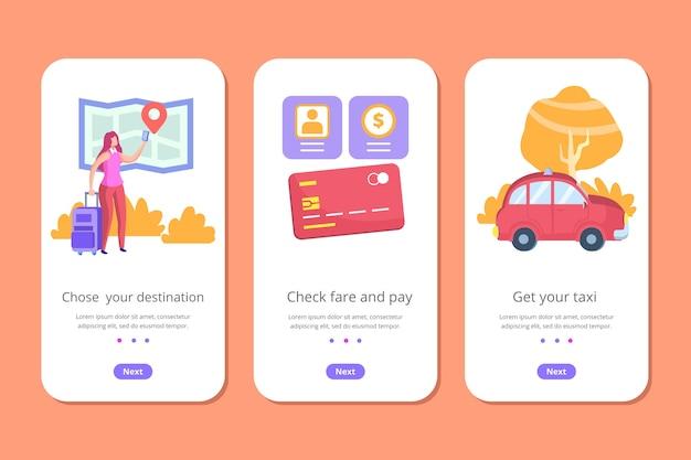 タクシーサービスの携帯電話アプリ