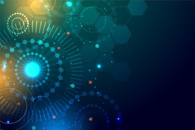 Абстрактный реалистичный фон технологии частиц