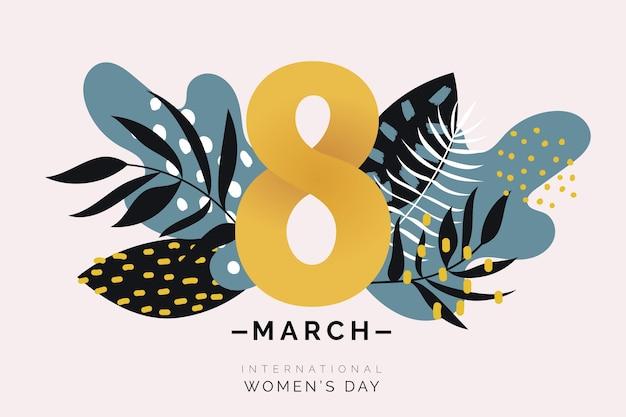 Цветочный женский день символ