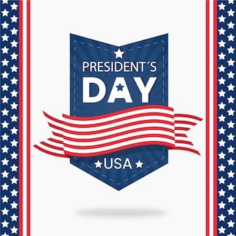 フラットなデザインの大統領の日のお祝いのコンセプト