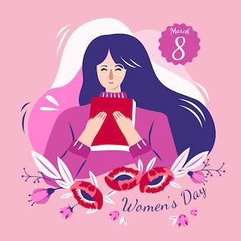 日付で描かれた女性の日
