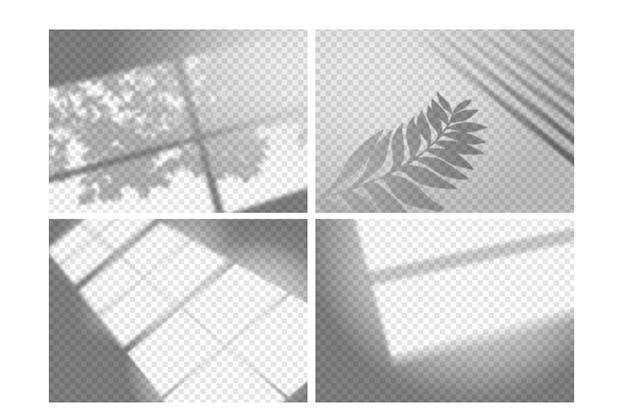 透明な影のオーバーレイ効果の概念