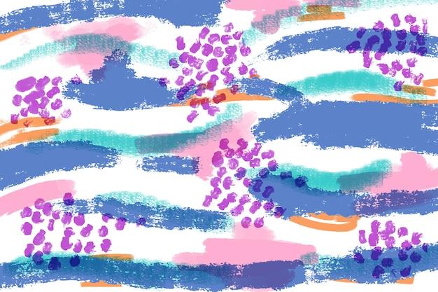 カラフルなラインとドットの芸術的な絵画