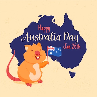 オーストラリアの日の手描きの背景