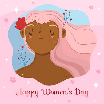 Ручной обращается женский день с цветами