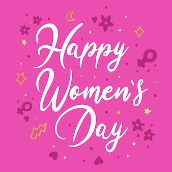 Надпись женский день