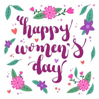 Цветочный женский день с поздравлением