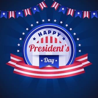 Плоский дизайн президентов день концепция мероприятия