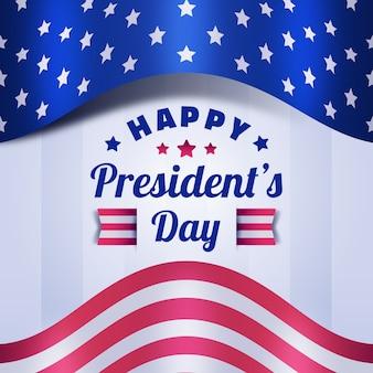 フラットデザイン大統領の日のお祝いイベントテーマ