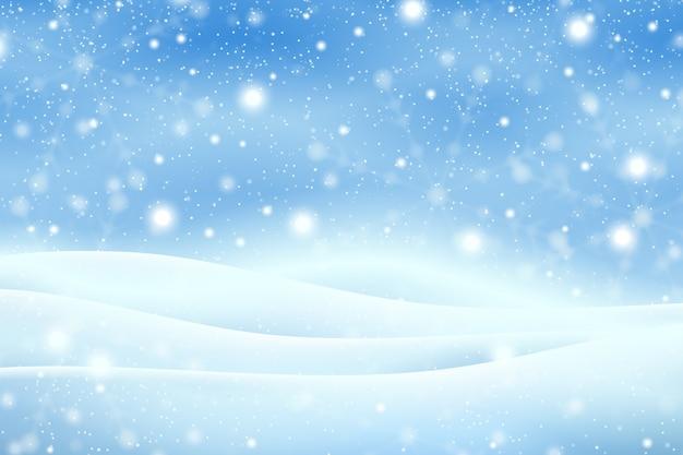 現実的な降雪の背景