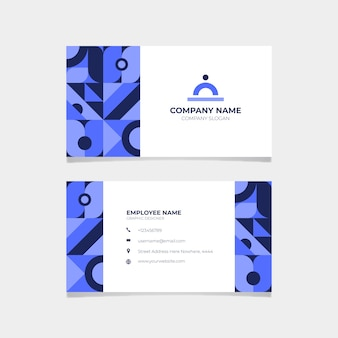 Корпоративный синий шаблон визитной карточки