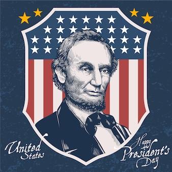 カラフルなビンテージ大統領の日