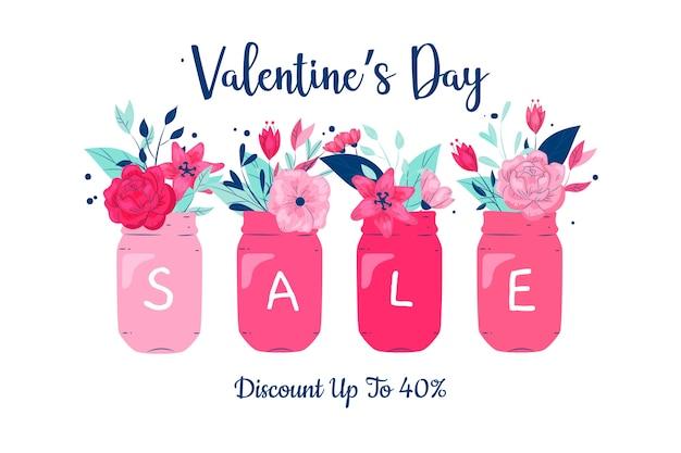 Красочная рука нарисованные валентина продажи