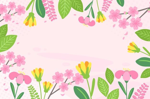 Плоский дизайн абстрактный цветочный фон