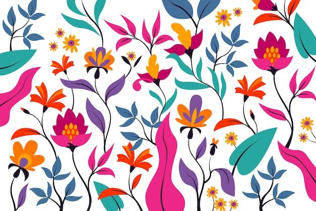 カラフルなエキゾチックな花の背景概念