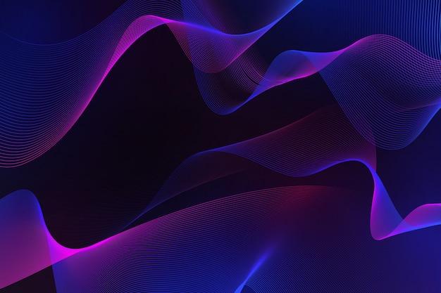 Темный волнистый фон
