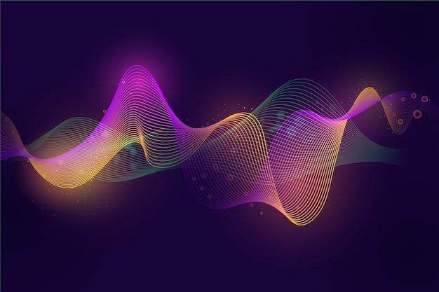 カラフルなイコライザー波の壁紙