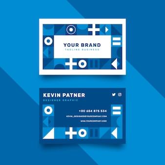 Абстрактная классическая голубая концепция шаблона визитной карточки