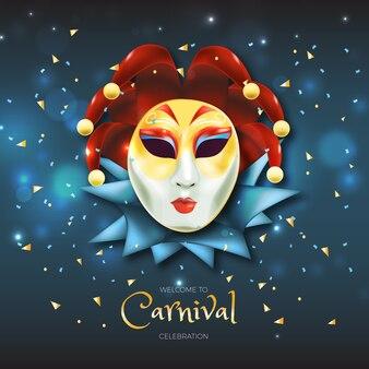 Реалистичная карнавальная концепция с маской