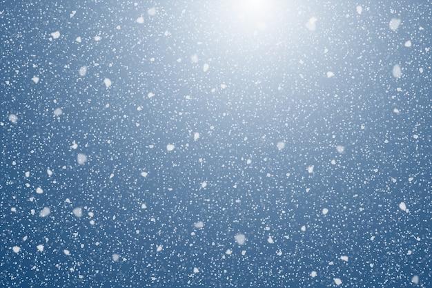 Реалистичный фон снегопада