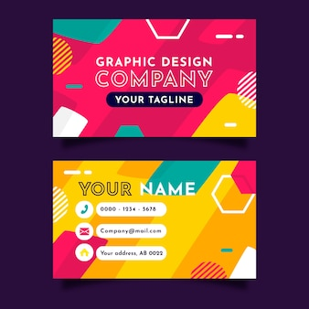 Прикольный графический шаблон визитной карточки