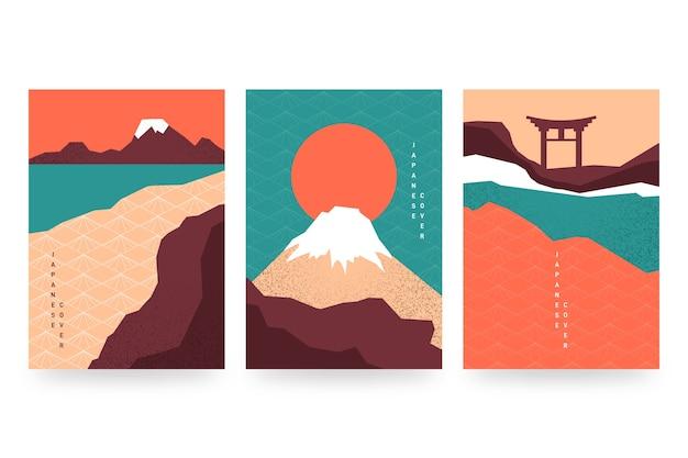 最小限の日本の表紙コレクションスタイル