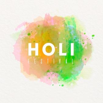 ホーリー祭と芸術的な水彩画のコンセプト