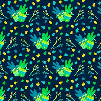 手描きのカーニバルパターン